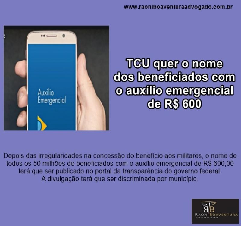 TCU quer o nome dos beneficiados com o auxílio emergencial de R$ 600