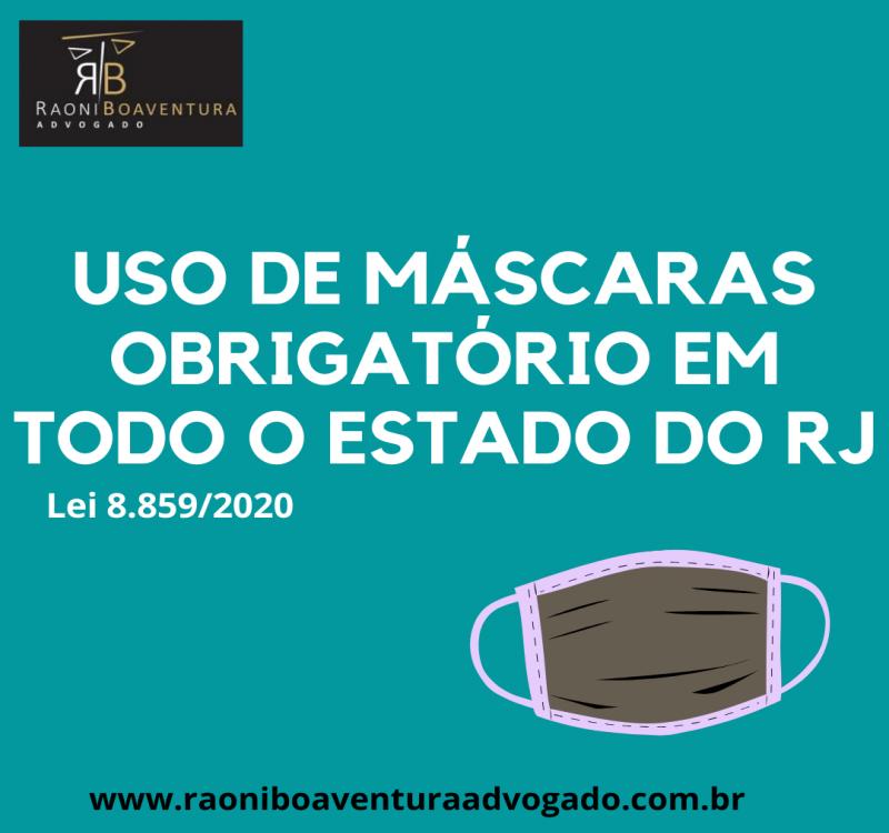 Uso de máscaras obrigatório em todo o estado do Rio de Janeiro