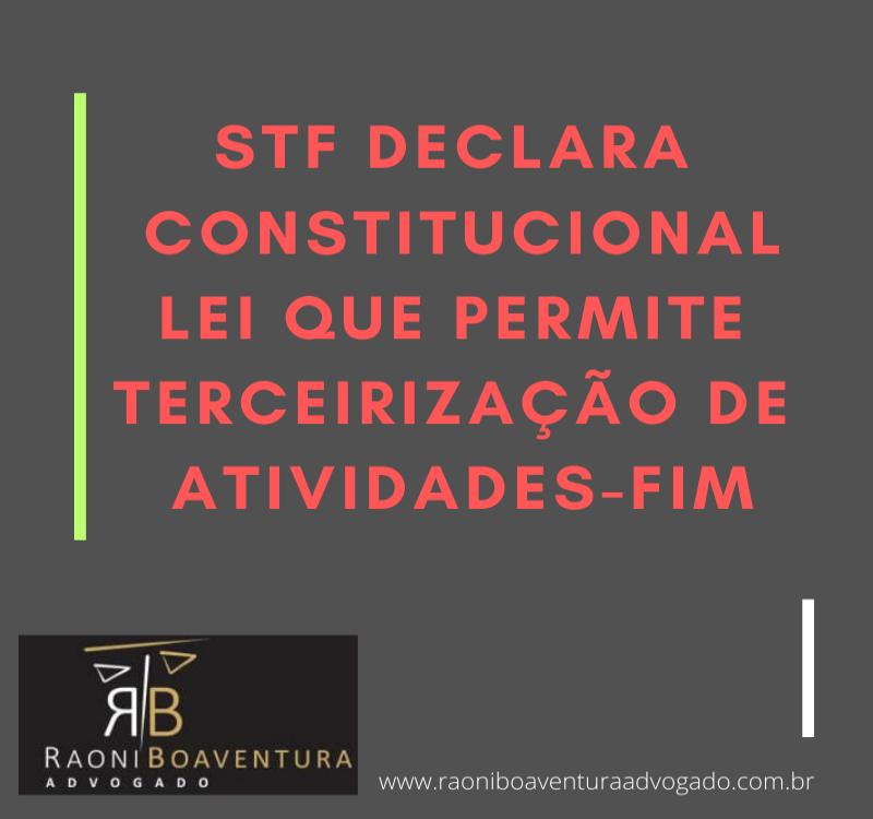 STF: Terceirização de trabalho temporário de atividade-fim é constitucional